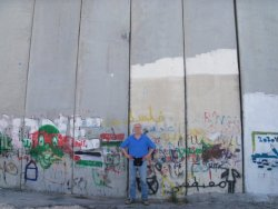 In Front of Separation Wall Abu Dis