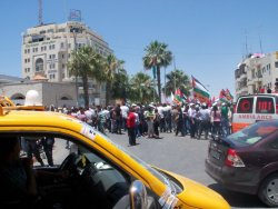 Ramallah Rally against Israeli Attack of Gaza Flotilla
