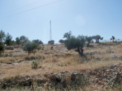 Israeli Communications Tower on Stolen Bi\'lin Land